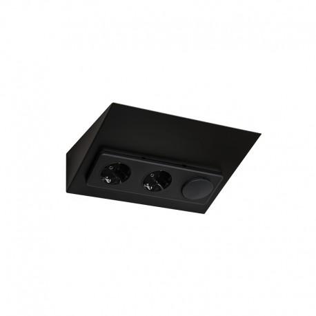 LIMENTE LUXA-31 wall socket incl. switch, black