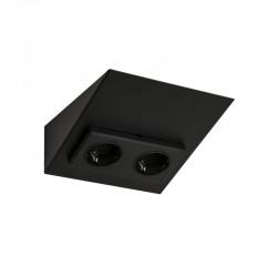 MINI-2, double socket, black