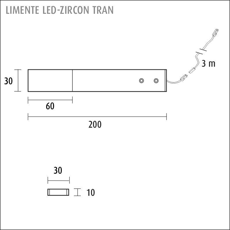 LIMENTE LED-ZIRCON TRAN 4,2 W, 24 V