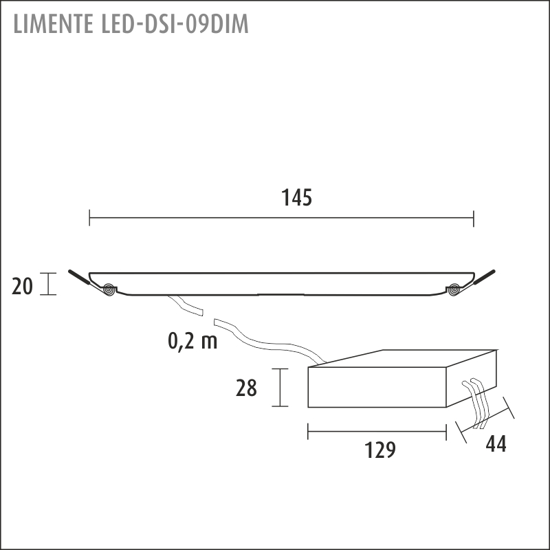 LED-DSI 09DIM, white