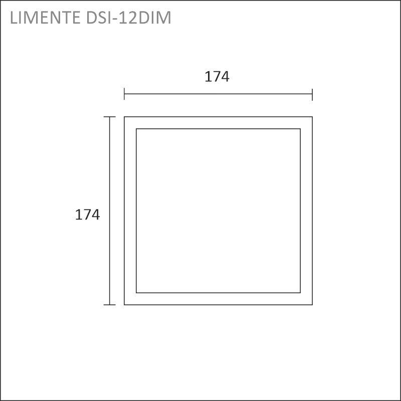 LED-DSI 12DIM, valkoinen