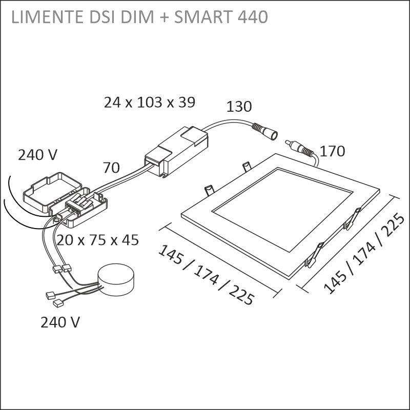 LED-DSI 18DIM, valkoinen