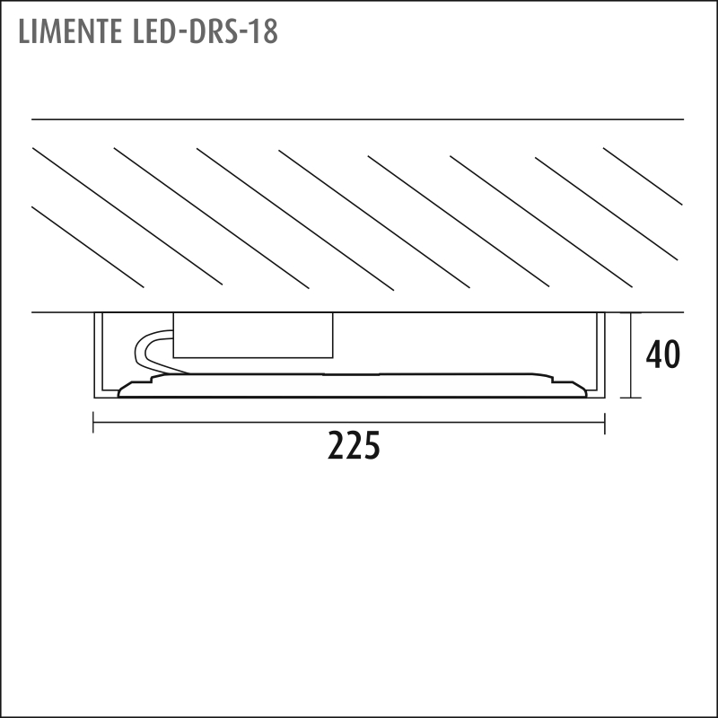 LED-DRS 18DIM, white