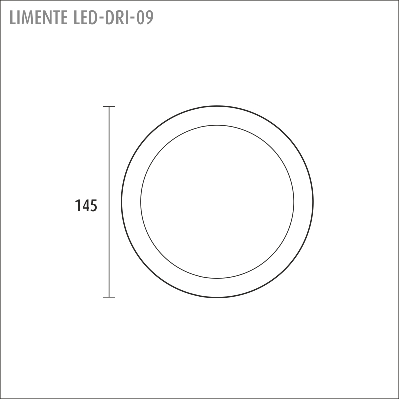 LED-DRI 09, white