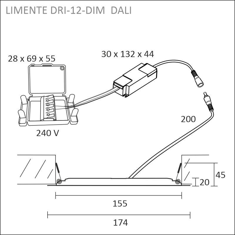 DRI-12DALI vit panellampa
