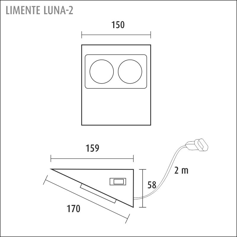 LUNA-2 socket + switch, white