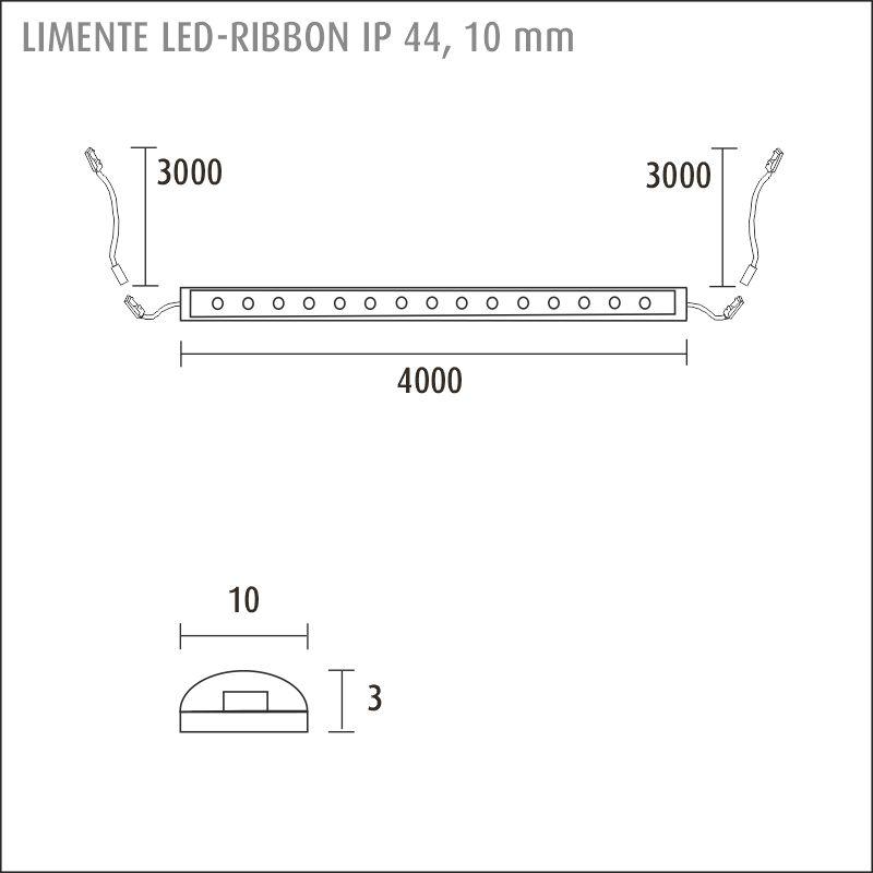 RIBBON 40 4K IP44 120 led-strip