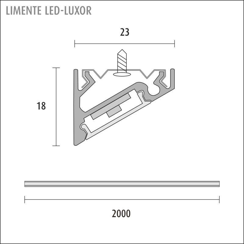 LED-LUXOR LUX black
