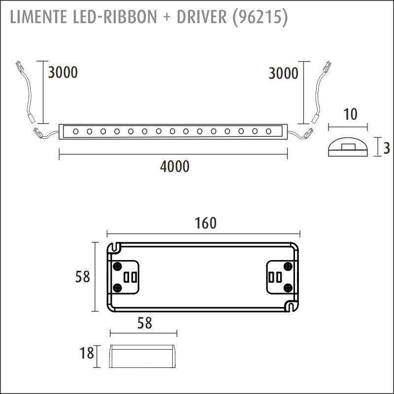 LED-RIBBON-SET 4m + driftdon