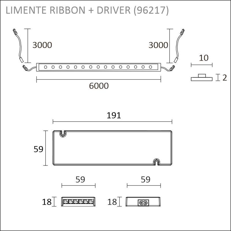 LED-RIBBON-SET IP20 6m + driftdon