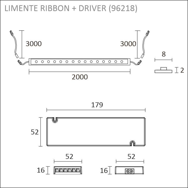 LED-RIBBON-SET 8mm 2m + driftdon