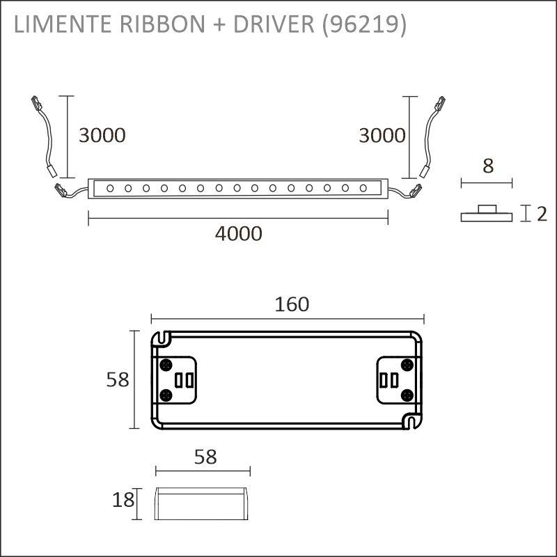 LED-RIBBON-SET 8mm 4m + driftdon