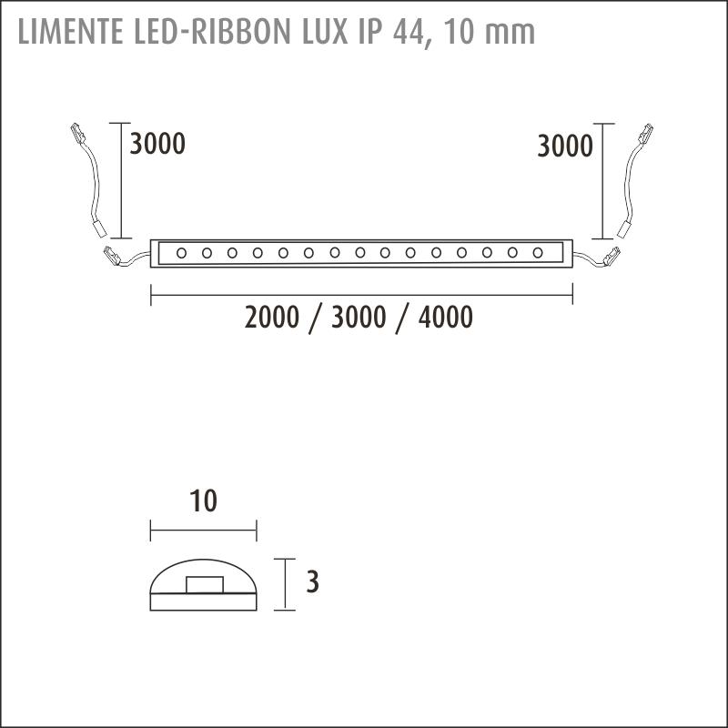 LED-RIBBON IP44 LUX 3000K