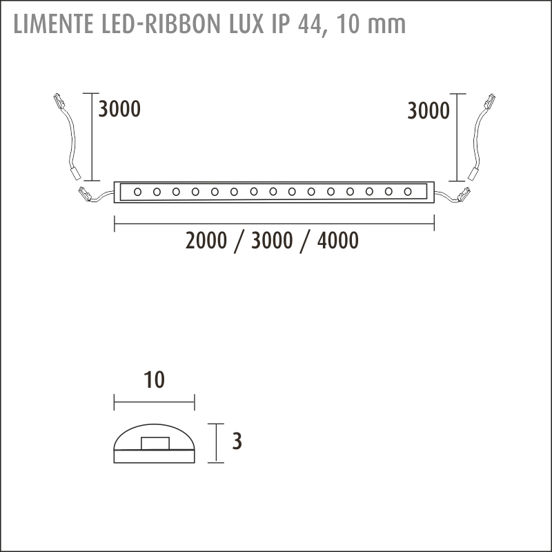 LED-RIBBON IP44 LUX 4000K