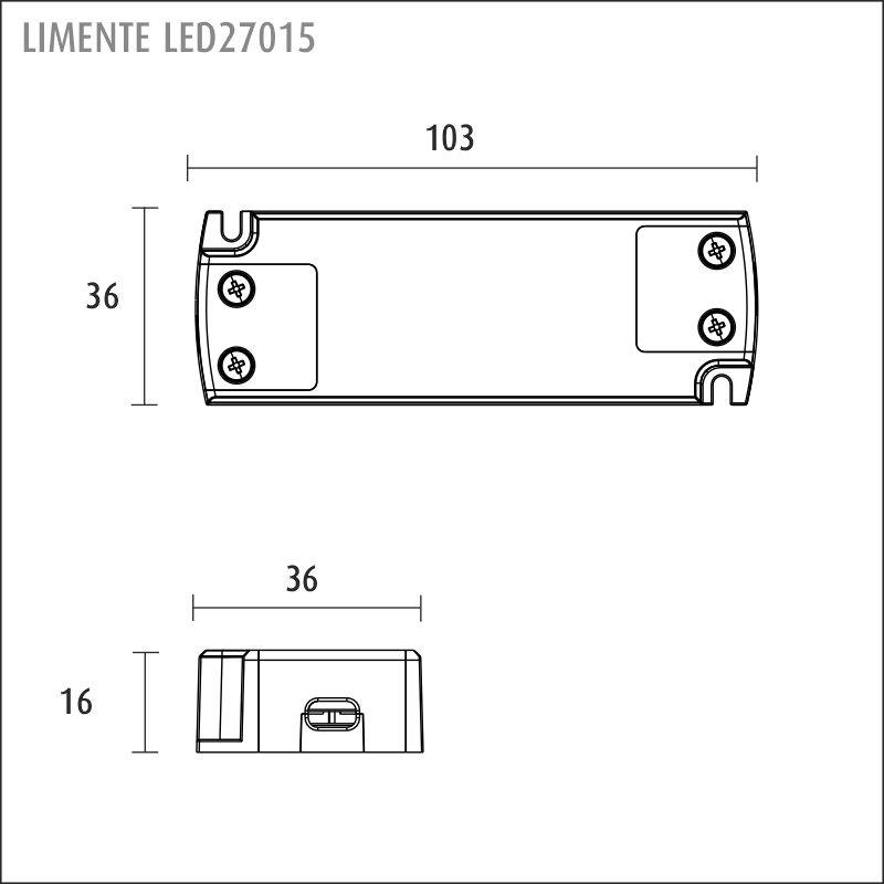 LIMENTE LED 24 V-virtalähde