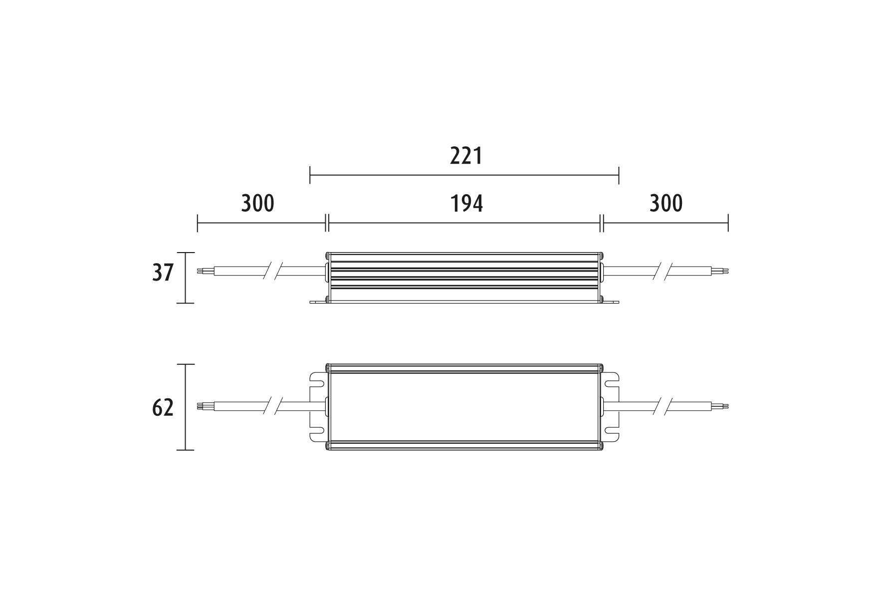 LIMENTE LED 24 V virtalähde, IP67