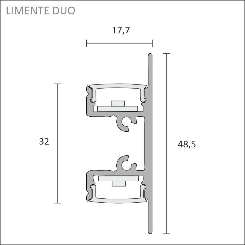 LED-DUO COM svart