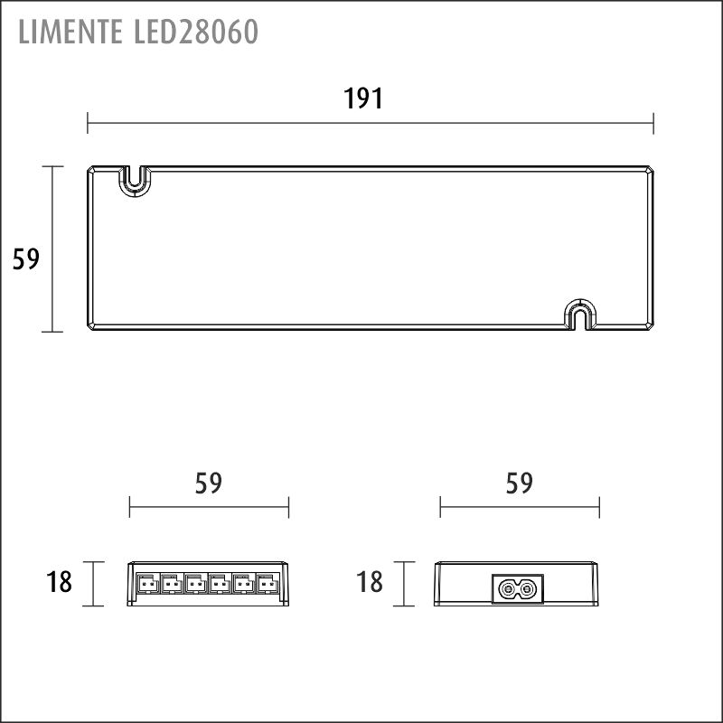 LIMENTE LED 24 V virtalähde