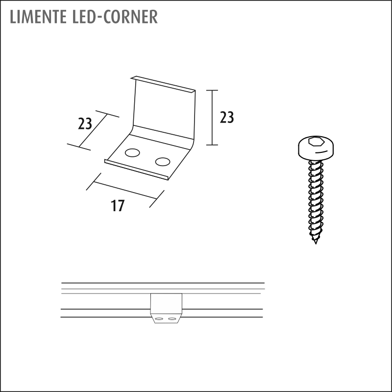 LED-CORNER LUX alumiini