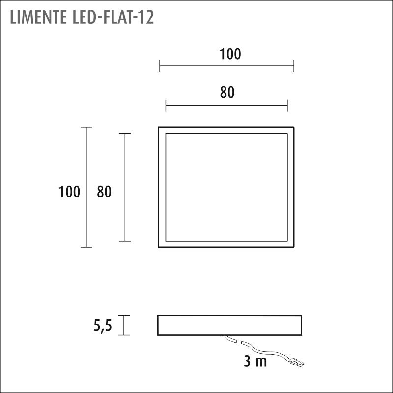 LIMENTE LED-FLAT 12