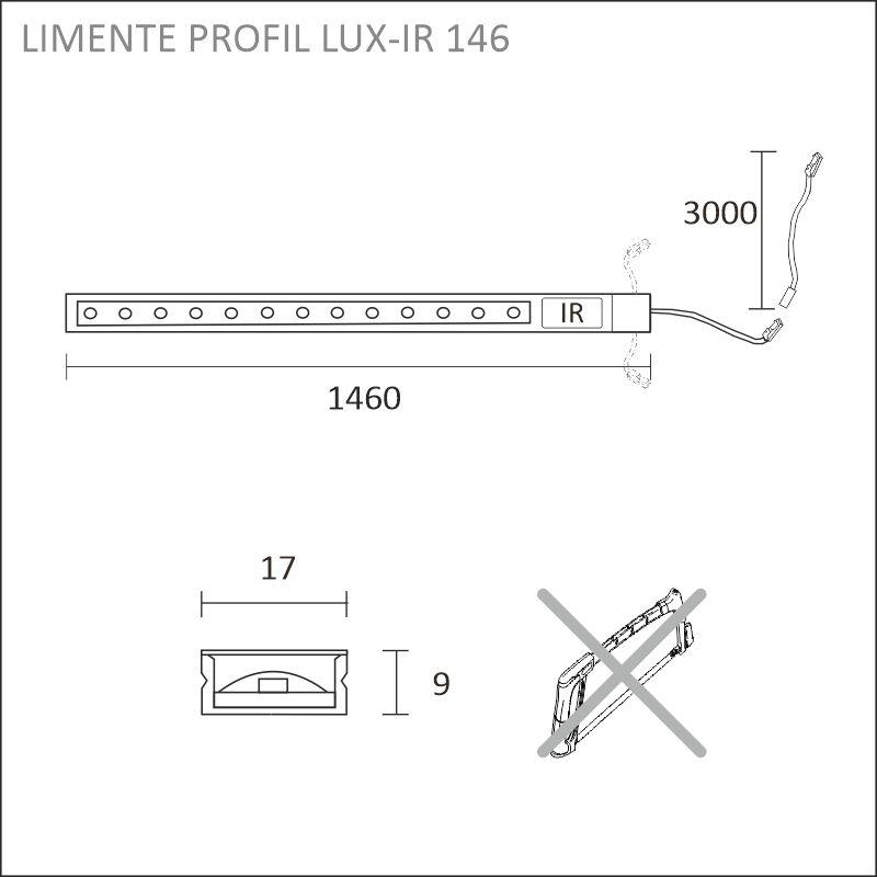 LED-PROFIL LUX-IR aluminium