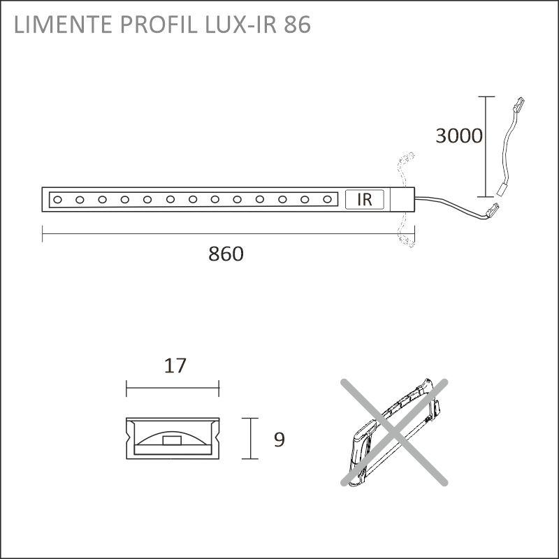 LED-PROFIL LUX-IR