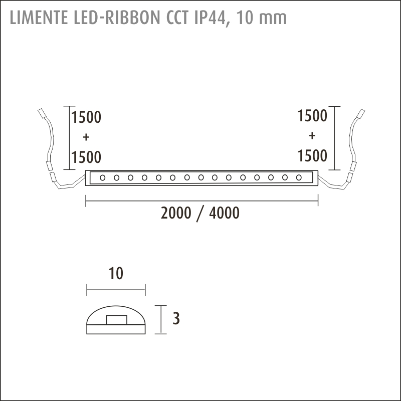 LED-RIBBON IP44 CCT