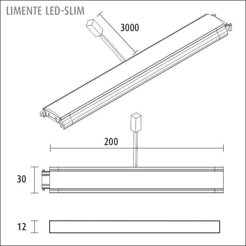 LED-SLIM 3000 K aluminium