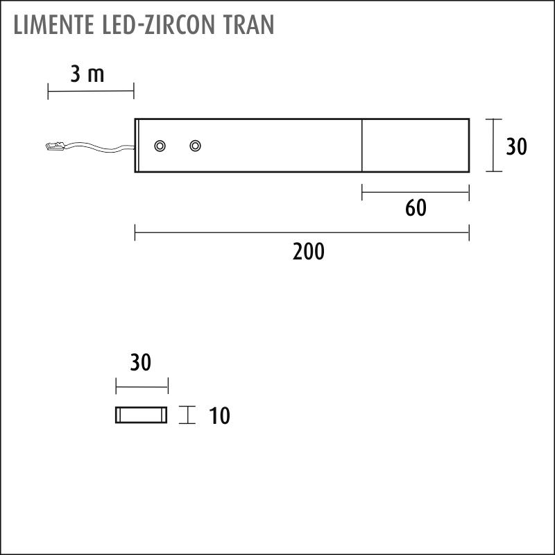 LIMENTE LED-ZIRCON TRAN 4,2 W, 12 V