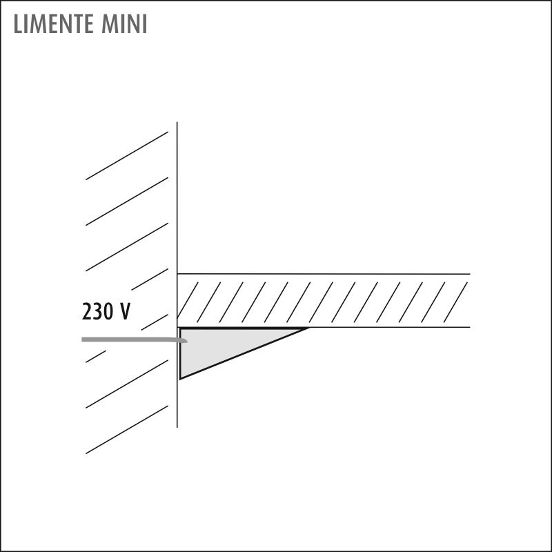 LIMENTE MINI-1, 1-osainen pistorasia, rst
