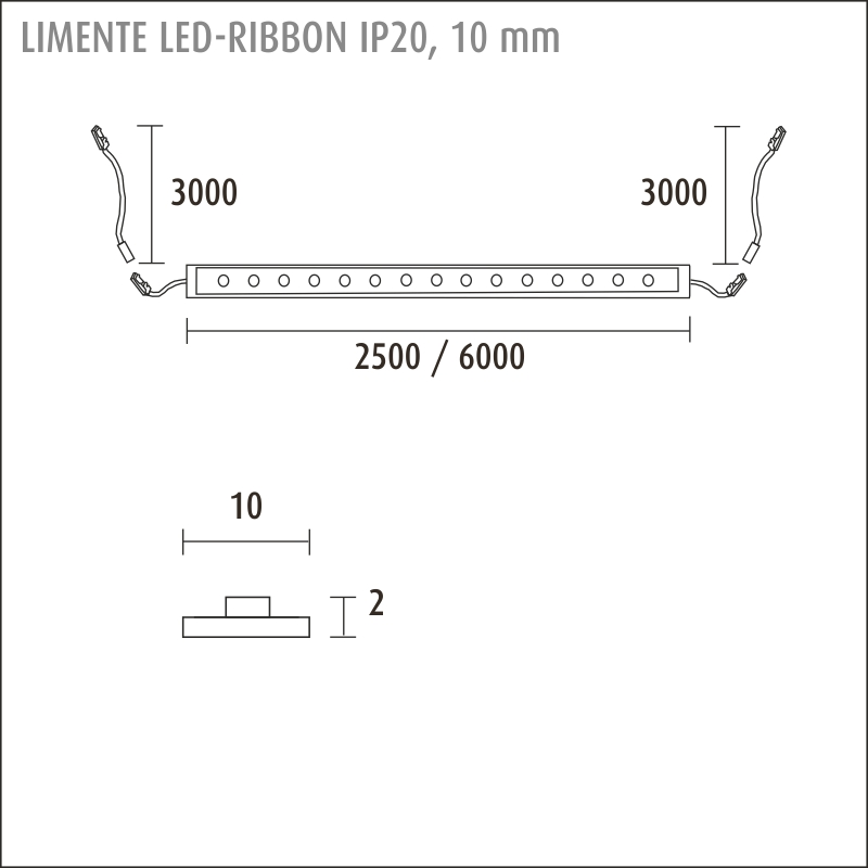 LED-RIBBON IP20 3000 K