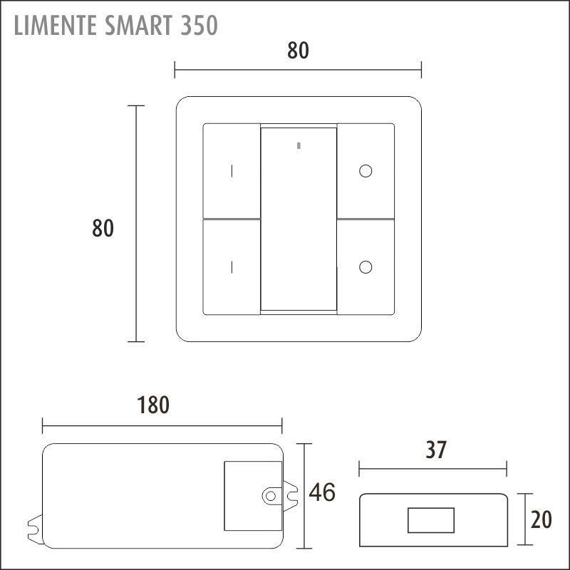 LIMENTE SMART 350 langaton valonohjaussetti