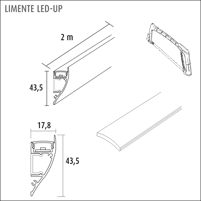 LED-UP CCT LUX musta