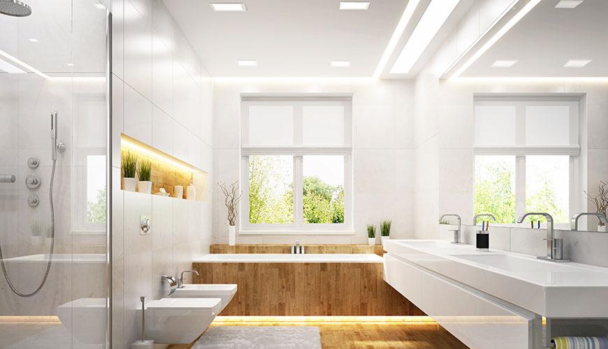 kylpyhuoneen valo